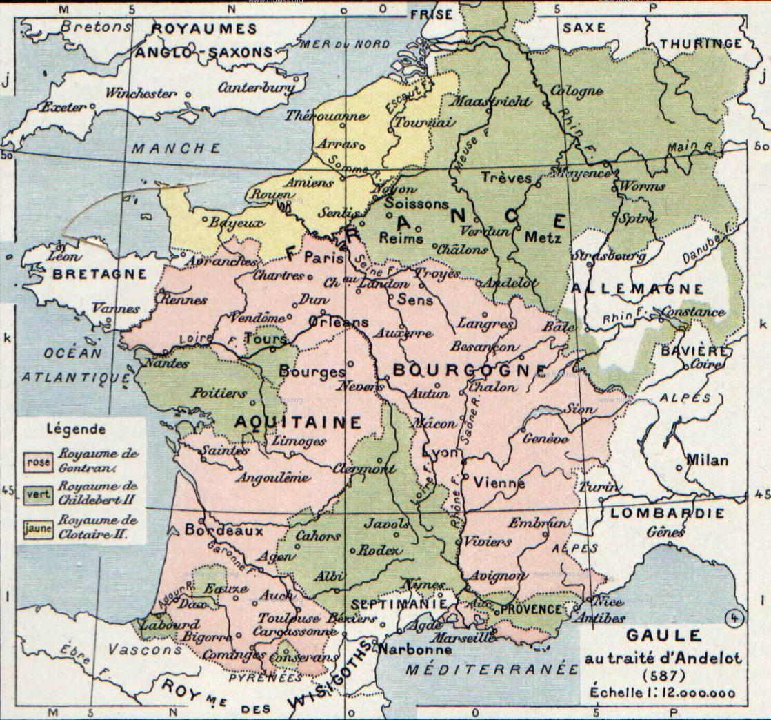 Gaul in 587 C.E.
