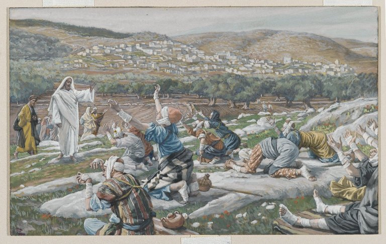 Brooklyn_Museum_-_The_Healing_of_Ten_Lepers_(Guérison_de_dix_lépreux)_-_James_Tissot_-_overall