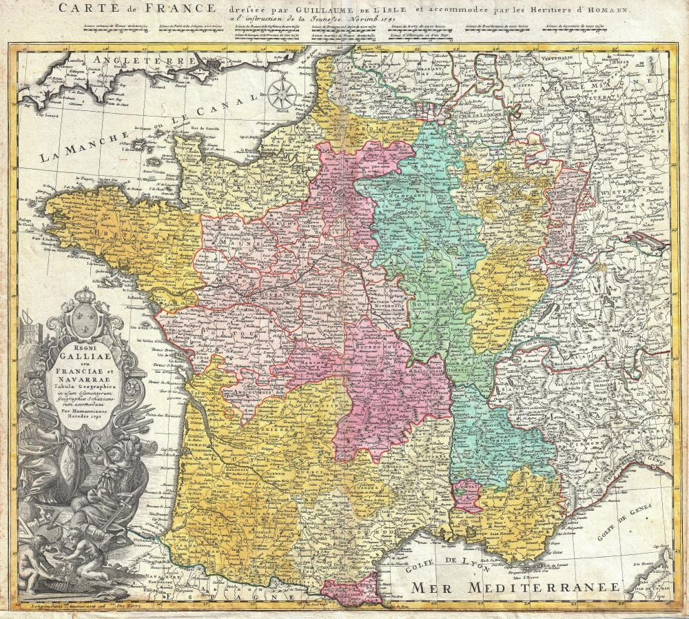 Map of France 1741