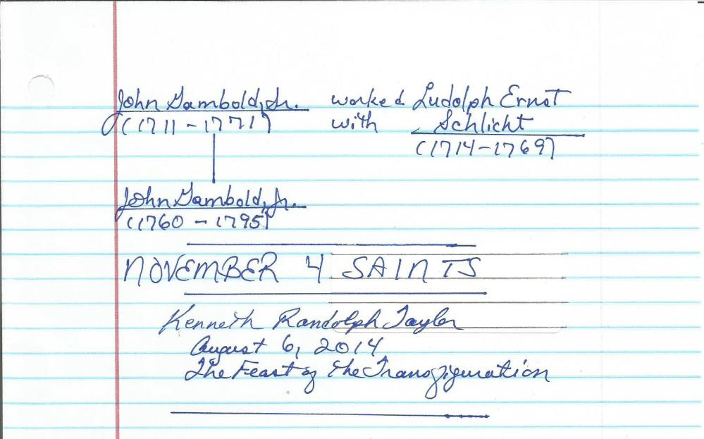 November 4 Saints