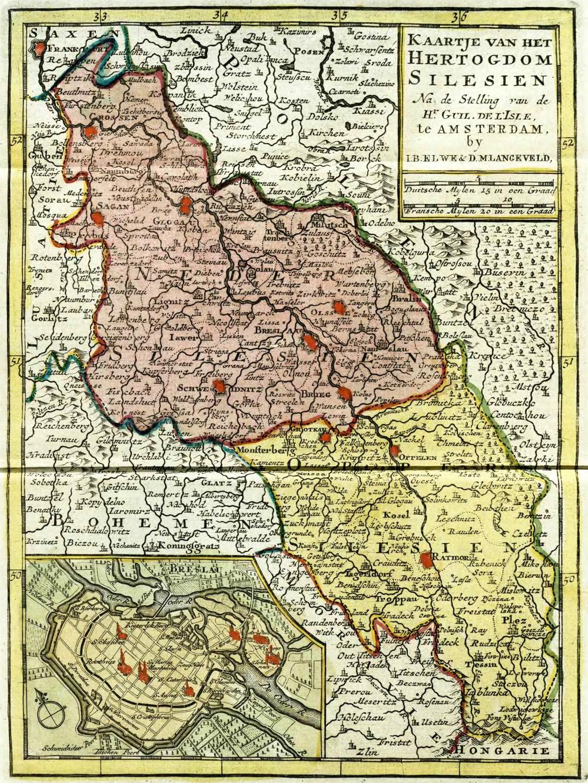 Silesia Map 1700