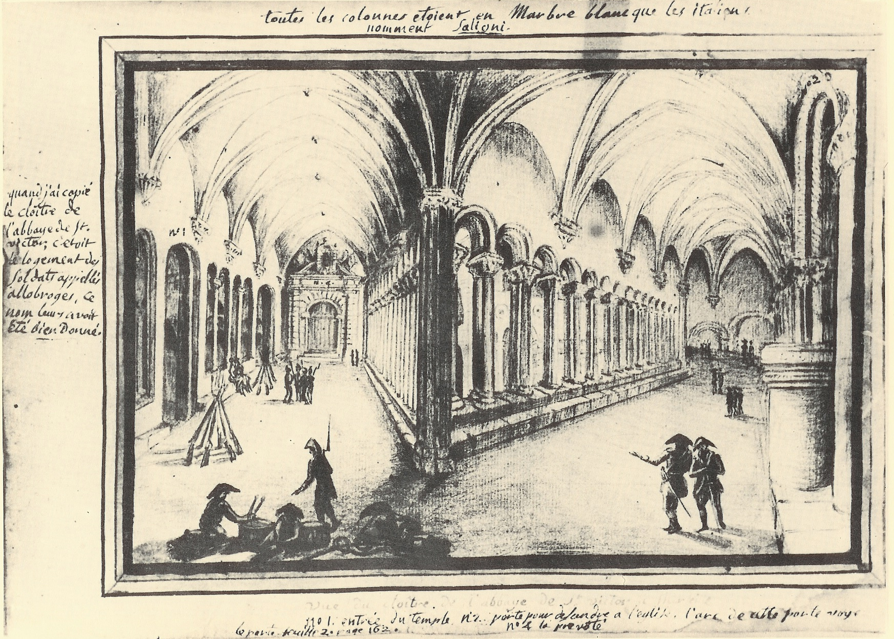 Abbey of St. Victor, Paris (Late 1700s)