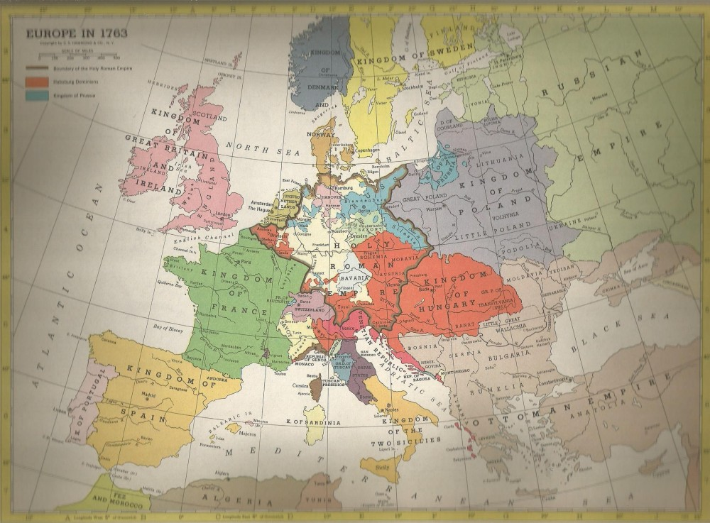Europe in 1763