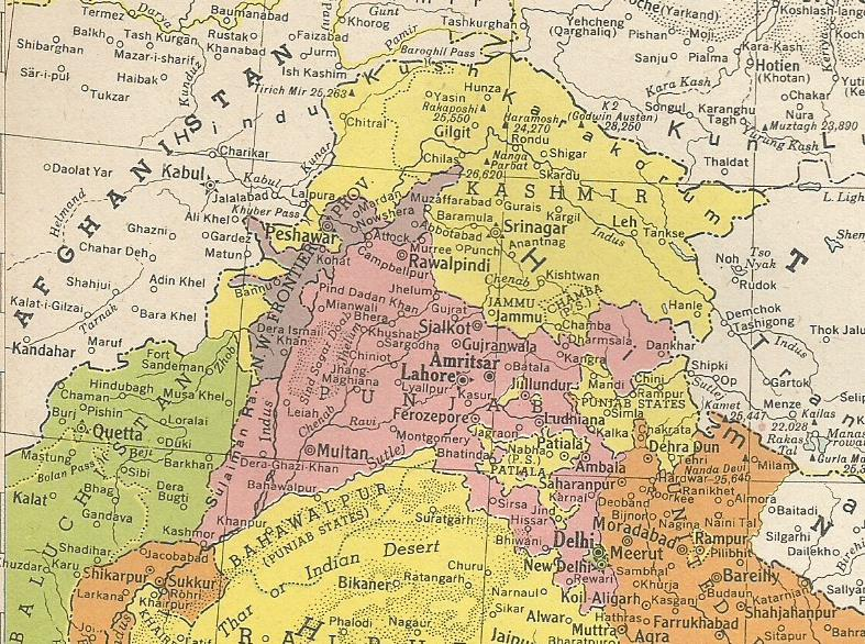 Punjab and Kashmir 1945