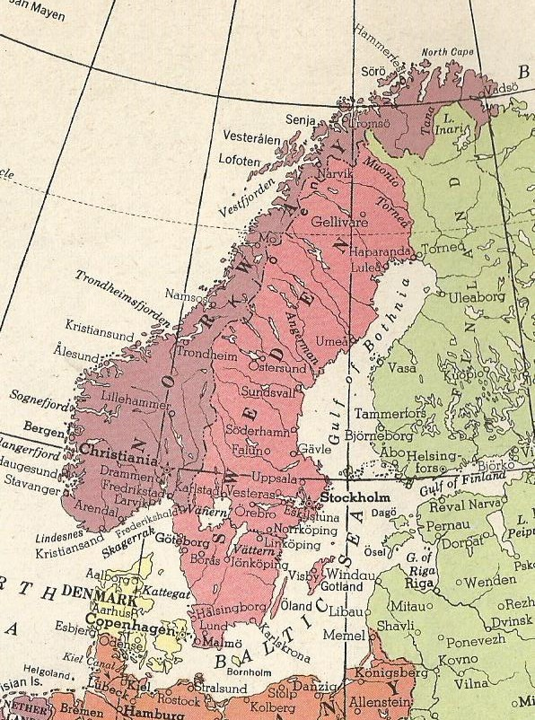 Denmark, Norway, and Sweden 1914