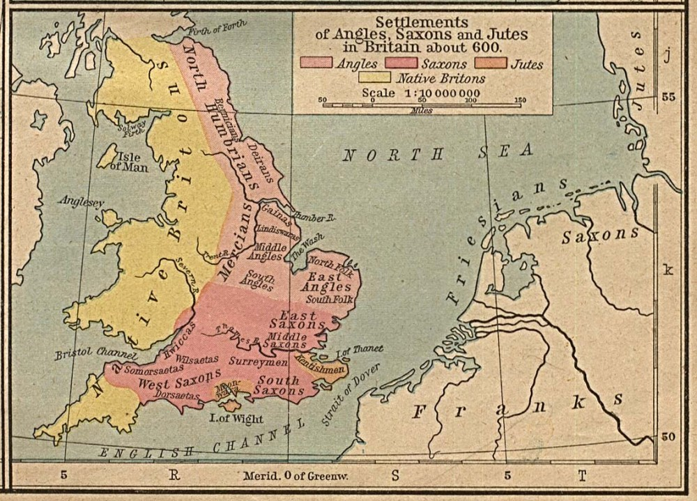 England in 600 CE