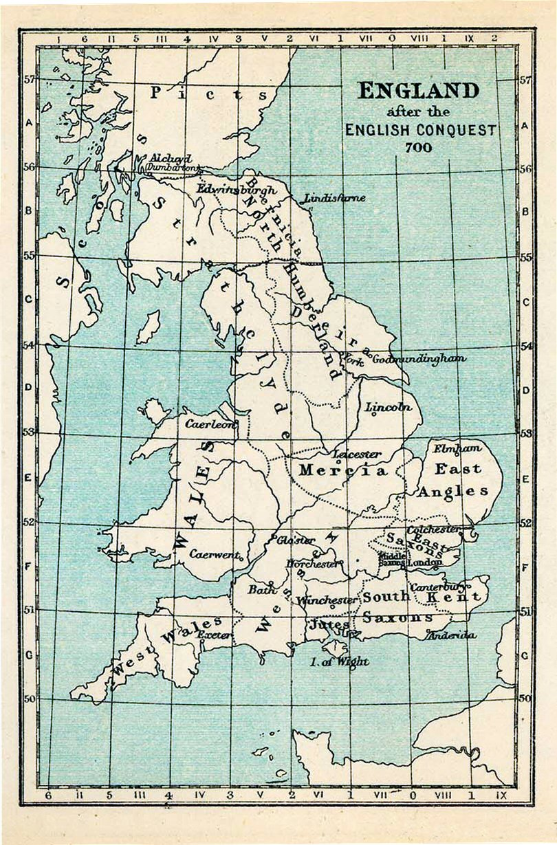 England in 700 CE