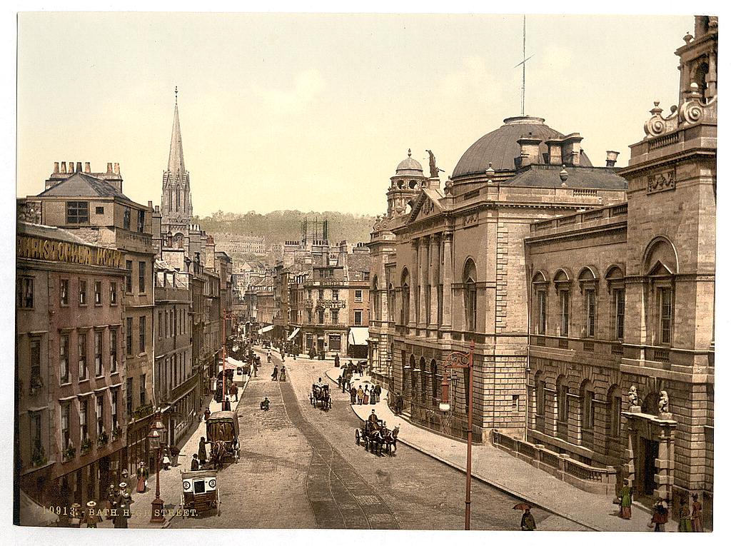 High Street, Bath, 1890