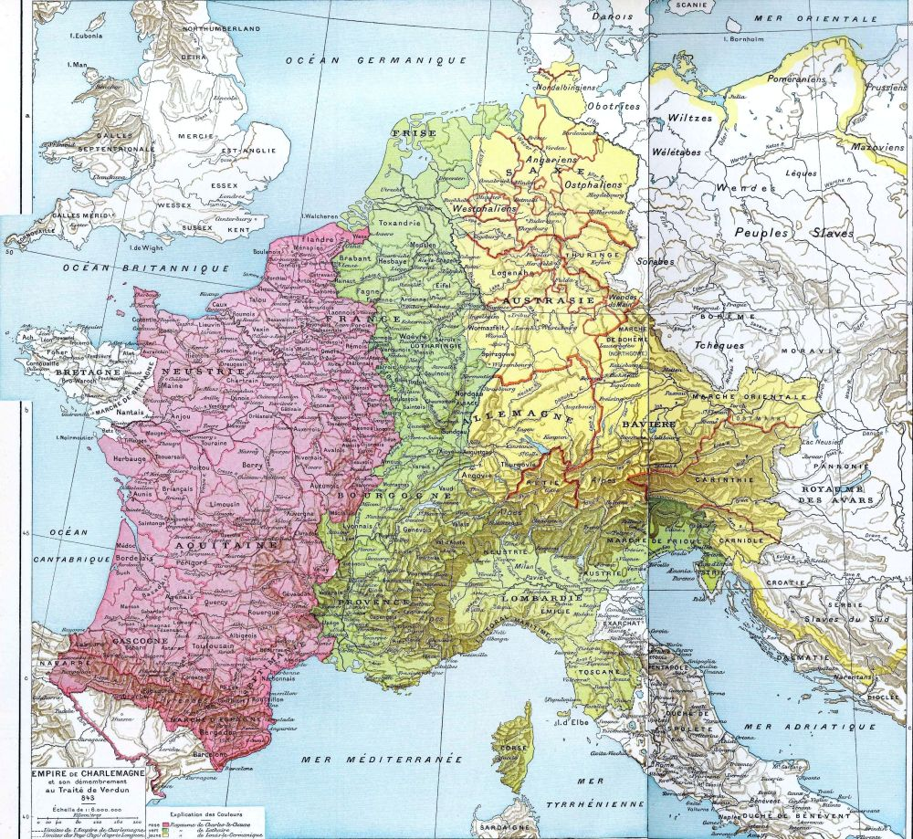 Carolingian Empire 843