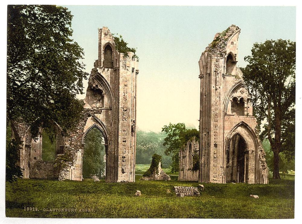 Glastonbury Abbey, 1890