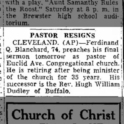 Blanchard's Last Sermon