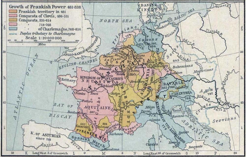 Francia Map