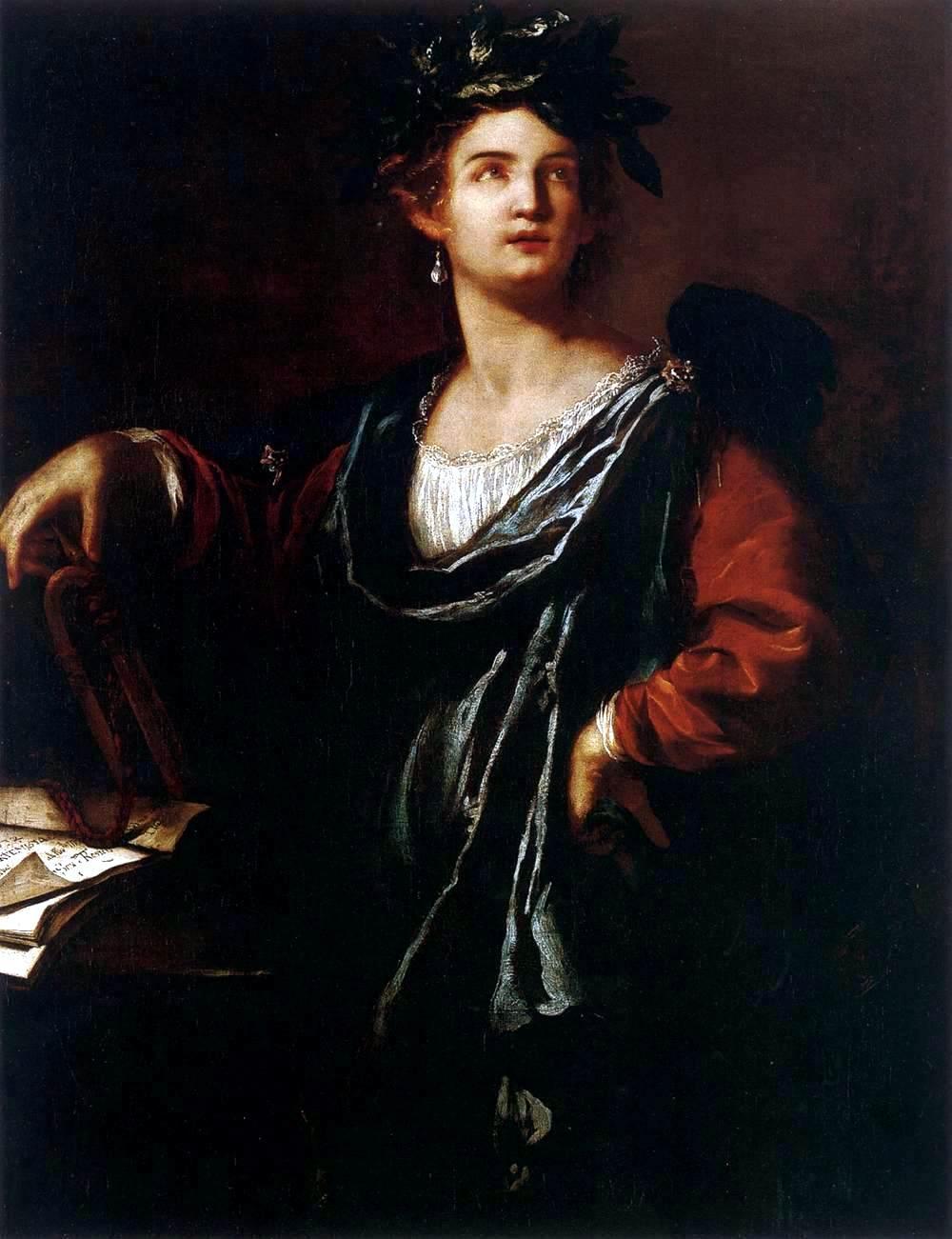 Artemisia Gentileschi / Артемизия Джентилески (1593-1653) - Clio, la Musa della Storia (La Fama) / Клио, муза Истории (Слава) (1632)