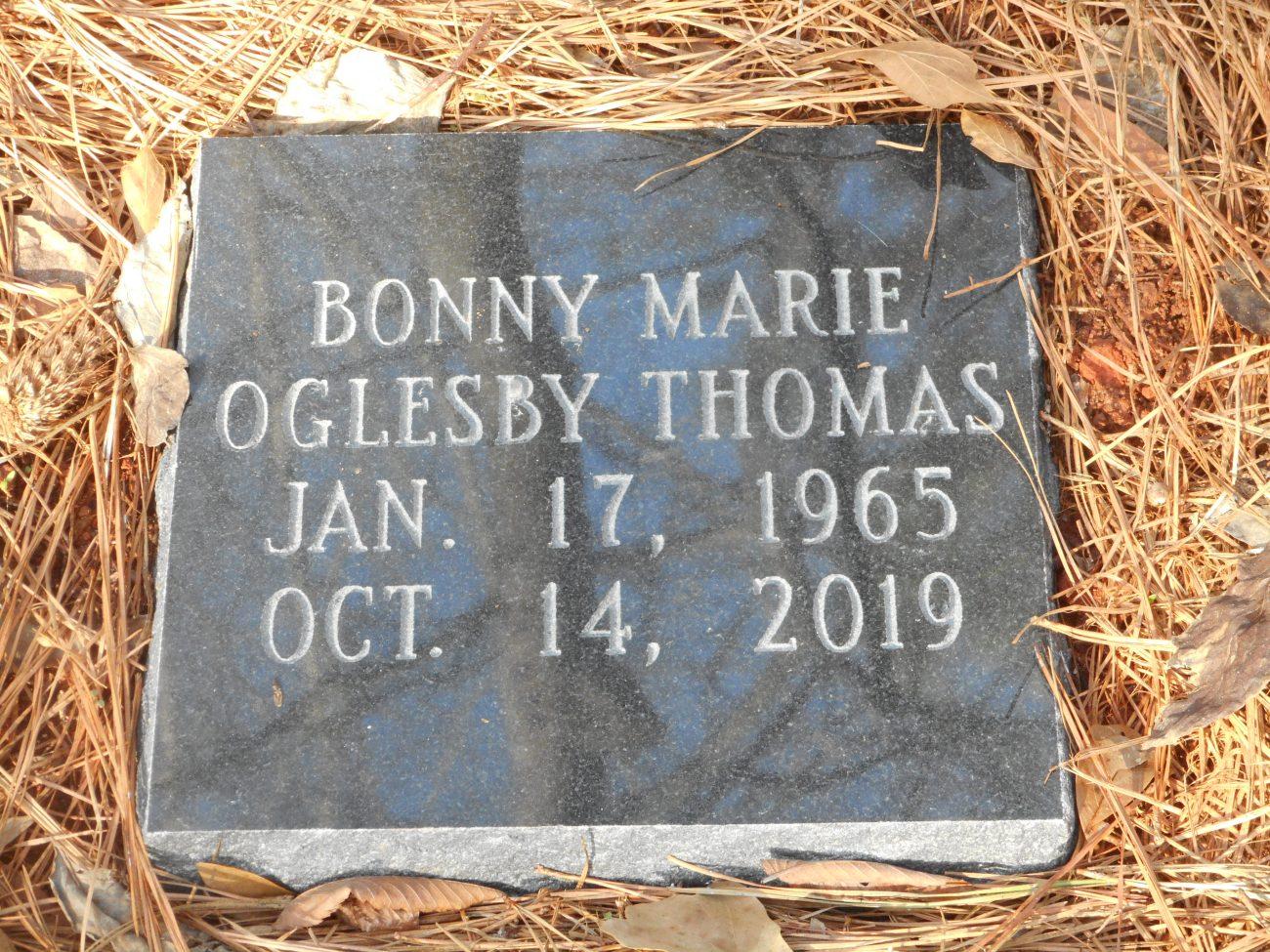 Bonny's Grave January 21, 2020